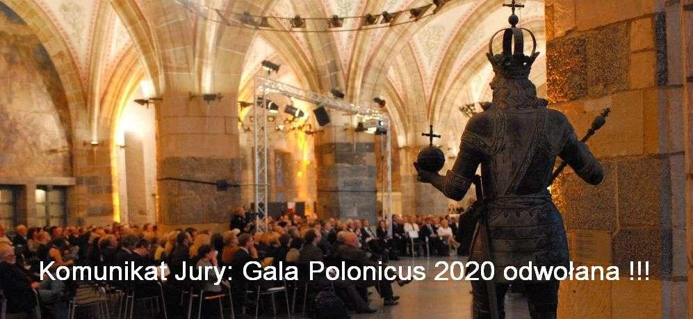 Komunikat Jury: tegoroczna Gala Polonicus 2020 odwołana